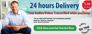 24 hours transcription services